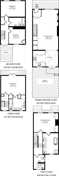 Large floorplan for Courtnell Street, Artesian Village, W2