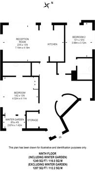 Large floorplan for Holland Park Avenue, Holland Park, W11