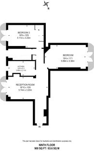 Large floorplan for Gloucester Place, Marylebone, NW1