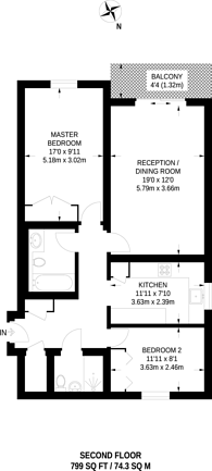 Large floorplan for Park Road, Beckenham, BR3