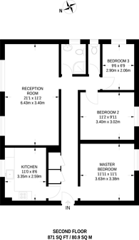 Large floorplan for Askill Drive, East Putney, SW15