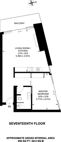 Large floorplan for Park Drive, Canary Wharf, E14