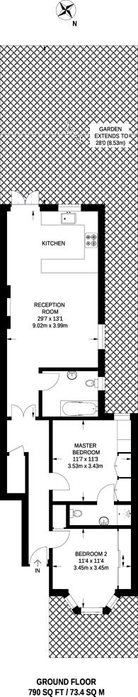 Large floorplan for Langton Road, Cricklewood, NW2
