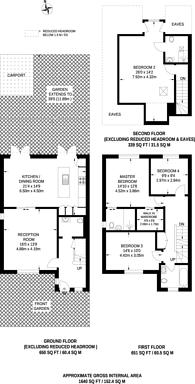 Large floorplan for Lambourne Place, Ickenham, UB10