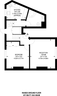 Large floorplan for Florence Street, Angel, N1