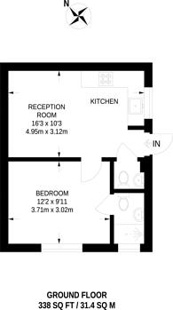 Large floorplan for Mountfield Road, Finchley, N3