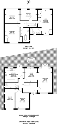 Large floorplan for Fitzjames Avenue, Croydon, CR0