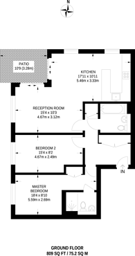Large floorplan for East Drive, Colindale, NW9