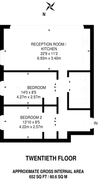 Large floorplan for Bowyer Street, Camberwell, SE5