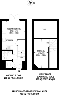 Large floorplan for Batchelor Street, Angel, N1