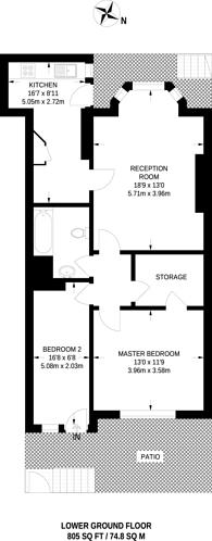 Large floorplan for Gloucester Mews, Hyde Park Estate, W2