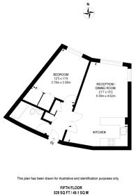 Large floorplan for Albert Embankment, Vauxhall, SE1