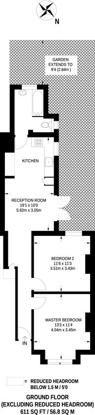 Large floorplan for Burlington Road, Thornton Heath, CR7