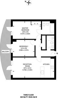 Large floorplan for The Ink Building, North Kensington, W10