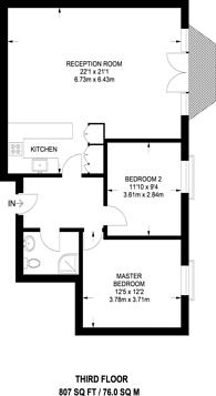 Large floorplan for King's Cross, King's Cross, N1