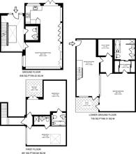 Large floorplan for Whittlebury Mews East, Primrose Hill, NW1