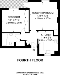 Large floorplan for Princeton Street, Bloomsbury, WC1R