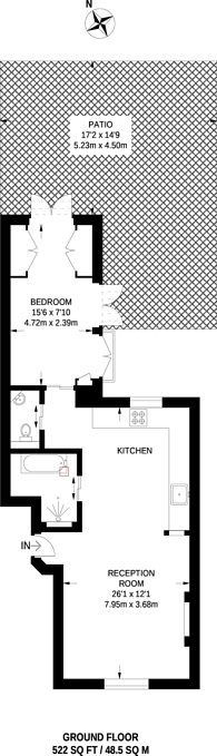 Large floorplan for Balcombe Street, Marylebone, NW1