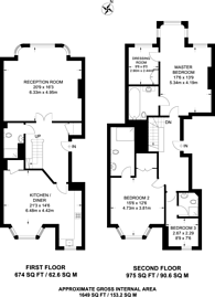 Large floorplan for Draycott Place, Chelsea, SW3