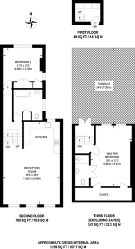 Large floorplan for Harvist Road, Queen's Park, NW6