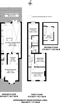 Large floorplan for Mill Hill Road, Mill Hill Conservation, W3