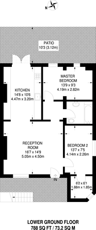 Large floorplan for Albion Road, Stoke Newington, N16