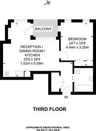 Large floorplan for Artillery Row, Westminster, SW1P