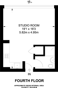 Large floorplan for Metro Central Heights, Elephant and Castle, SE1