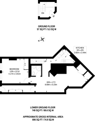 Large floorplan for Hans Place, Chelsea, SW1X