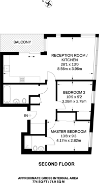 Large floorplan for Leapale Lane, Guildford, GU1