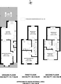 Large floorplan for Graveney Road, Tooting, SW17