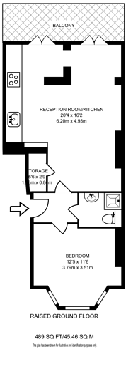 Large floorplan for Westwick Gardens, Brook Green, W14