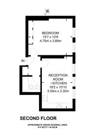 Large floorplan for Villiers Street, Charing Cross, WC2N