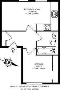 Large floorplan for Edgware Road, Westminster, W2