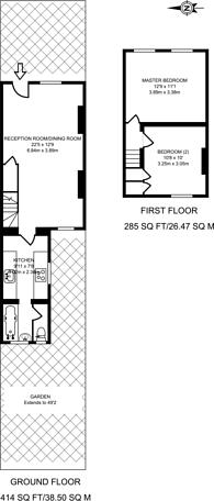 Large floorplan for Station Road, Forest Gate, E7