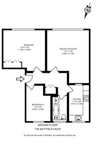 Large floorplan for Oak Tree Close, Ealing, W5