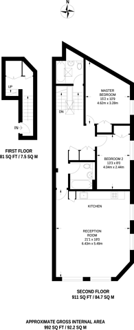 Large floorplan for Lavender Hill, Clapham Junction, SW11