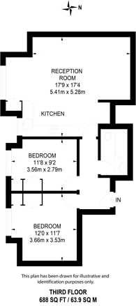 Large floorplan for Agincourt Road, Hampstead, NW3