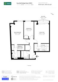 Large floorplan for Vauxhall Bridge Road, Victoria, SW1V