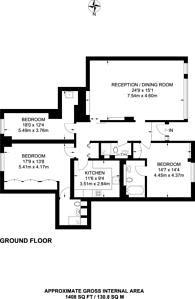 Large floorplan for Prince Albert Road, St John's Wood, NW8
