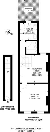 Large floorplan for Nunhead Grove, Nunhead, SE15