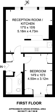 Large floorplan for Lillie Road, West Brompton, SW6