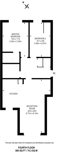 Large floorplan for Camberwell New Road, Camberwell, SE5
