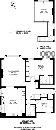 Large floorplan for Chesterford Gardens, Hampstead, NW3