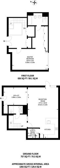 Large floorplan for Farm Lane, West Brompton, SW6