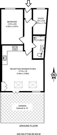 Large floorplan for West Hill, East Putney, SW18