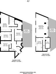 Large floorplan for Carlyle Court, Chelsea Harbour, Chelsea, SW10