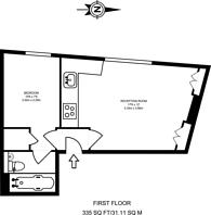 Large floorplan for Taybridge Road, Clapham Common North Side, SW11