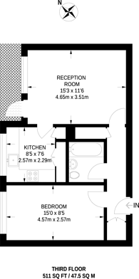 Large floorplan for Green Dragon Lane, Brentford, TW8