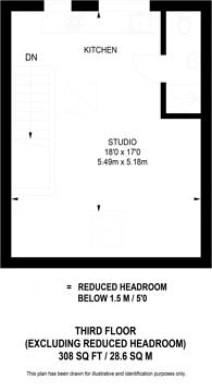 Large floorplan for Talgarth Road, West Kensington, W14